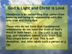 god is light and christ is love63