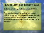 god is light and christ is love68