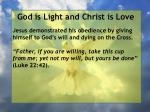god is light and christ is love71
