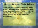god is light and christ is love79