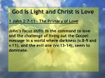god is light and christ is love83