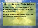 god is light and christ is love84