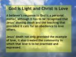 god is light and christ is love85