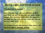 god is light and christ is love97