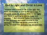 god is light and christ is love99
