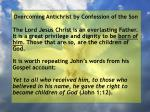 overcoming antichrist by confession of the son105