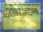 overcoming antichrist by confession of the son24