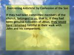 overcoming antichrist by confession of the son26