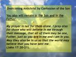 overcoming antichrist by confession of the son64