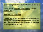 overcoming antichrist by confession of the son66
