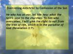 overcoming antichrist by confession of the son69