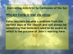 overcoming antichrist by confession of the son73