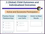 3 global child outcomes and individualized outcomes