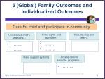 5 global family outcomes and individualized outcomes