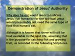 demonstration of jesus authority106