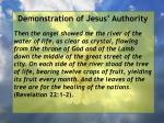 demonstration of jesus authority109