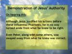 demonstration of jesus authority111