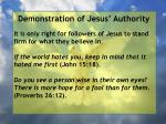 demonstration of jesus authority115