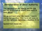 demonstration of jesus authority117