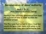 demonstration of jesus authority119