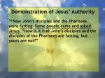 demonstration of jesus authority123