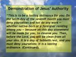 demonstration of jesus authority127