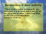 demonstration of jesus authority129