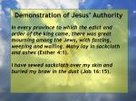 demonstration of jesus authority131