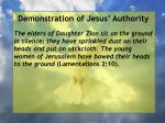demonstration of jesus authority132