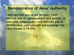 demonstration of jesus authority138