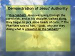 demonstration of jesus authority153