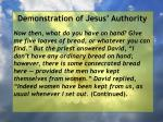 demonstration of jesus authority161