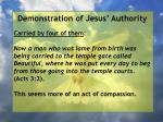 demonstration of jesus authority27