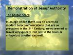 demonstration of jesus authority9