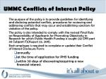 ummc conflicts of interest policy