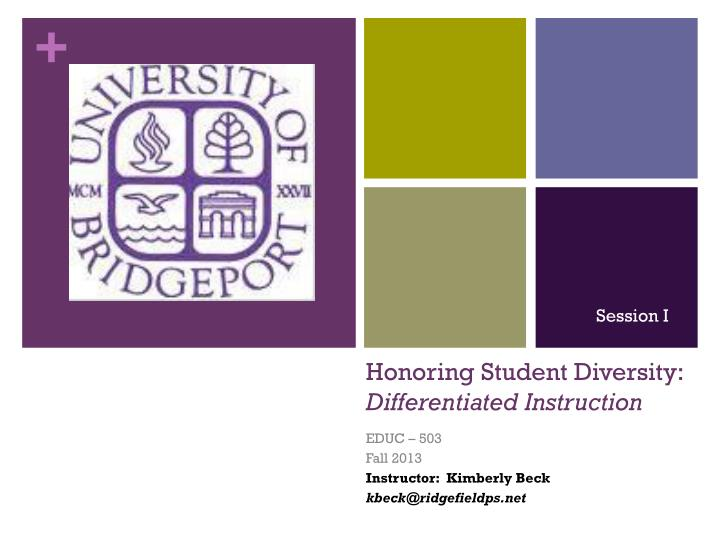 honoring student diversity differentiated instruction n.