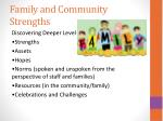 family and community strengths1