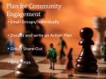 plan for community engagement