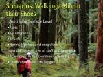 scenarios walking a mile in their shoes1