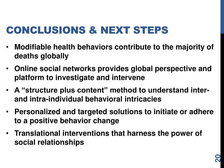 Conclusions & Next Steps