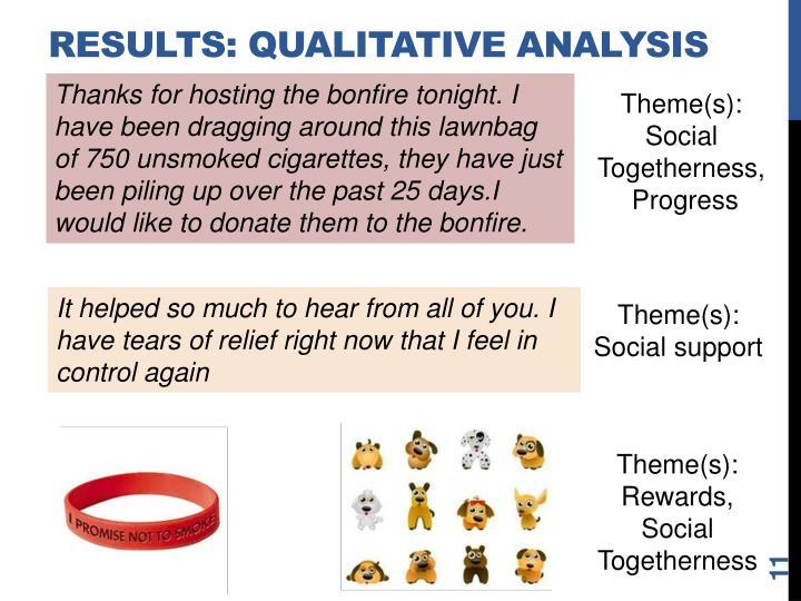 Results: Qualitative ANALYSIS