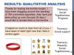 results qualitative analysis