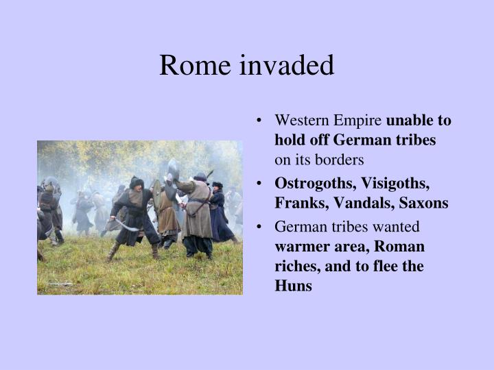 Rome invaded