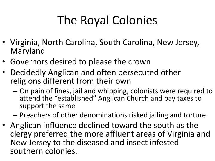 The Royal Colonies
