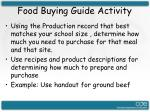 food buying guide activity