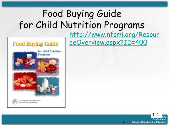 food buying guide for child nutrition programs n.