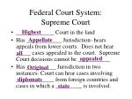 federal court system supreme court