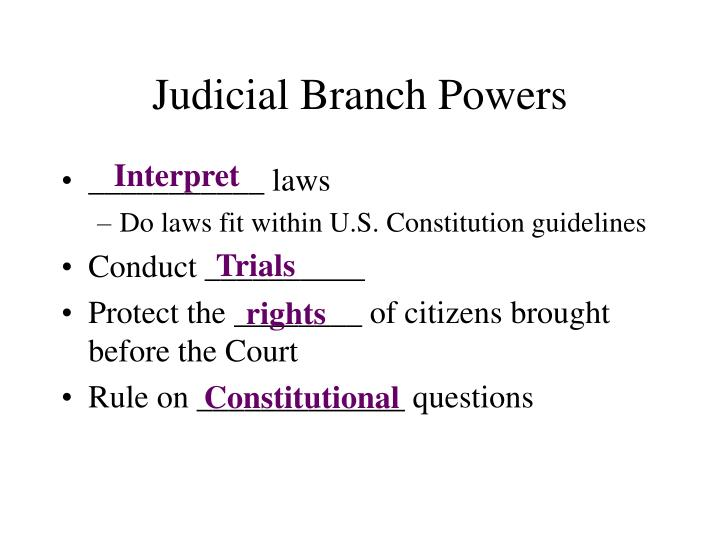 judicial branch powers n.
