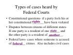 types of cases heard by federal courts1
