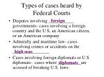types of cases heard by federal courts2